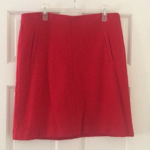 Ann Taylor A-line red skirt size 12 like new